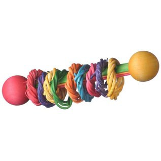 SUPERBIRD CREATIONS VINE RING RATTLE FOOT TOY