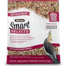 ZuPreem Smart Selects Premium Daily Nutrition for Cockatiels & Lovebirds 2.5 #
