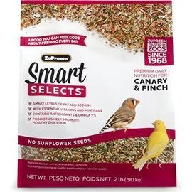 ZuPreem Smart Selects Premium Daily Nutrition for Canary & Finch 2#
