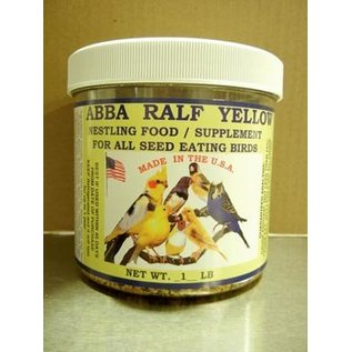 ABBA PRODUCTS ABBA'S RALF 1LB YELLOW  ULTRA PREMIUM NESTLING FOOD / SUPPLEMENT