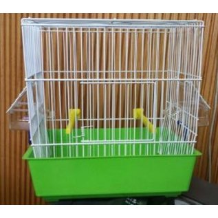 """ABBA PRODUCTS ABBA SONG BIRD CAGE 11"""" H X 10"""" W X 7"""" D 1/2"""" BAR SPACING ASSORTED COLORS"""