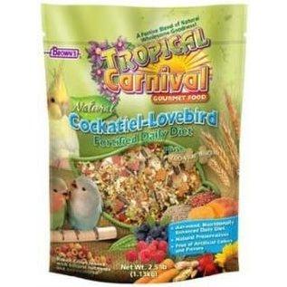 FM Brown's Tropical Carnival Natural Cockatiel-Lovebird Food 2.5 Lb