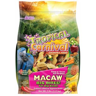 FM BROWN'S Tropical Carnival Macaw Big Bites 5 lb.
