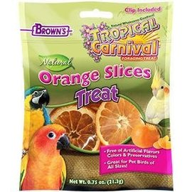 TROPICAL CARNIVAL NATURALS ORANGE SLICES BIRD TRT