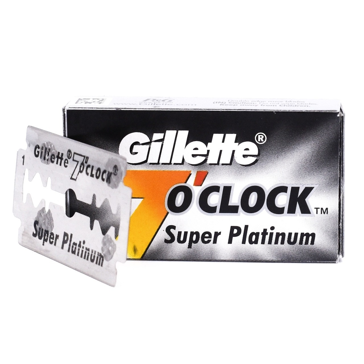 Gillette 7 O'Clock Super Platinum Double Edge Blades