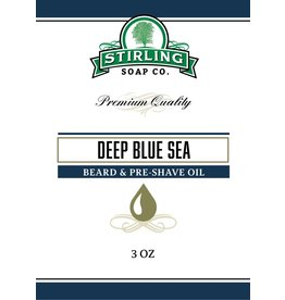 Stirling Soap Co. Stirling Beard & Pre-Shave Oil - Deep Blue Sea