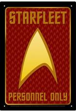 NMR Distribution Tin Sign - Starfleet Personnel