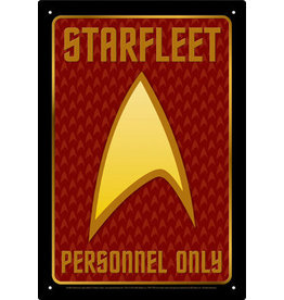 NMR Distribution Tin Sign - Starfleet Personnel