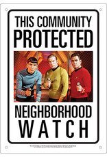 NMR Distribution Tin Sign - Star Trek Neighborhood Watch