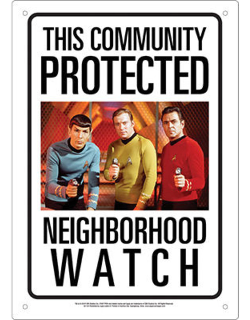 NMR Distribution Tin Sign - Star Trek Neighborhood Watch