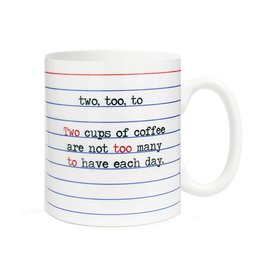 Fly Paper Products Mug - Two, To, Too