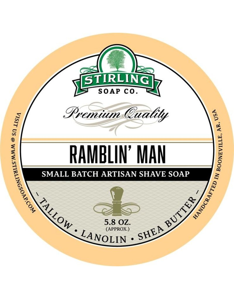 Stirling Soap Co. Stirling Shave Soap - Ramblin' Man
