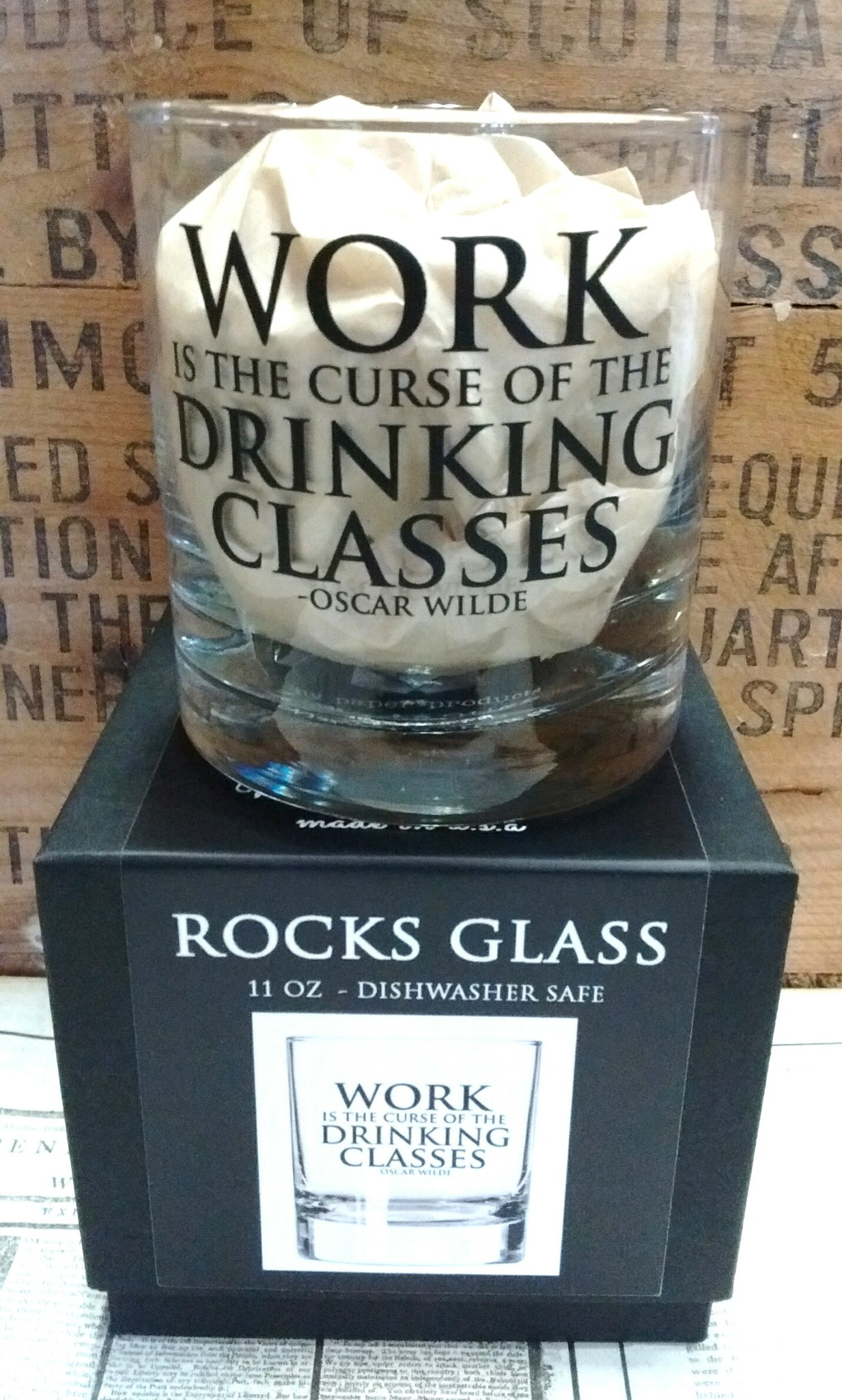 Fly Paper Products Whiskey Glass - Curse of the Drinking Classes