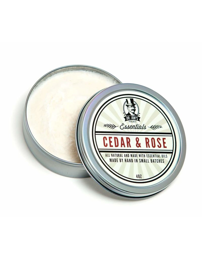 Dr. Jon's Dr. Jon's Essentials Shaving Soap - Cedar & Rose
