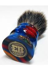 E.B. Latheworks E.B. Latheworks Pure Badger Shave Brush - Vertical Stripe Handle