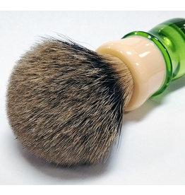 E.B. Latheworks E.B. Latheworks Best Badger Shave Brush - Green Handle