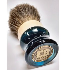 E.B. Latheworks E.B. Latheworks Mixed Badger Shave Brush - Blue Handle