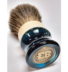 E.B. Latheworks E.B. Latheworks Mixed Badger Shave Brush - Blue Handle