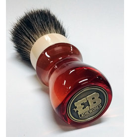 E.B. Latheworks E.B. Latheworks Mixed Badger Shave Brush - Red Handle