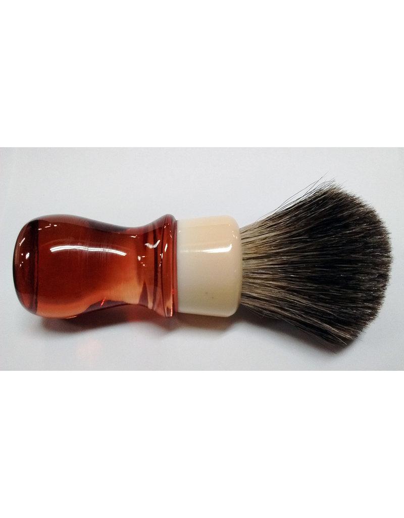 E.B. Latheworks E.B. Latheworks Mixed Badger Shave Brush - Red Handle