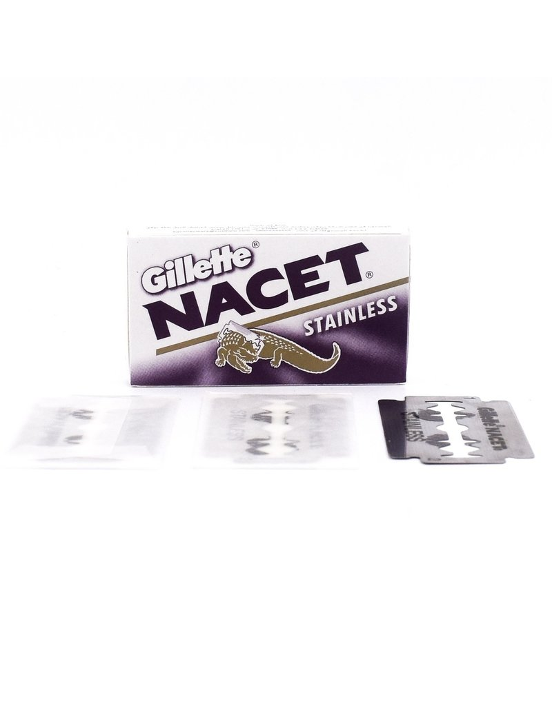 Gillette Nacet Stainless Steel Double Edge Blades