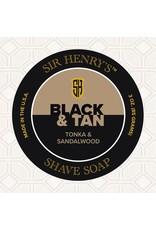 Black Tie Razor Company Sir Henry's Shaving Soap Puck - Black & Tan