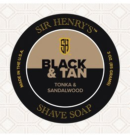 Black Tie Razor Company Sir Henry's Shaving Soap Puck - Black & Tan