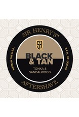 Black Tie Razor Company Sir Henry's Aftershave Splash - Black & Tan