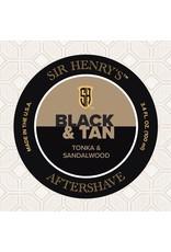 Black Tie Razor Company Sir Henry's Aftershave Splash - Black & Tan