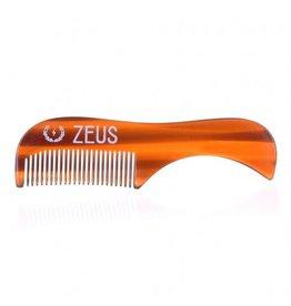 Zeus Zeus Mustache Comb - Tiger Tortoiseshell