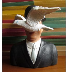Parastone Magritte Man In Bowler Hat & Dove Statue