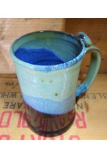 Mudbug Creations Stein - Seafoam, Blue & Black