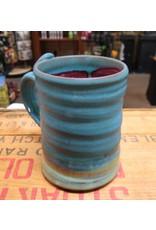 Mudbug Creations Large Mug - Blue & Maroon