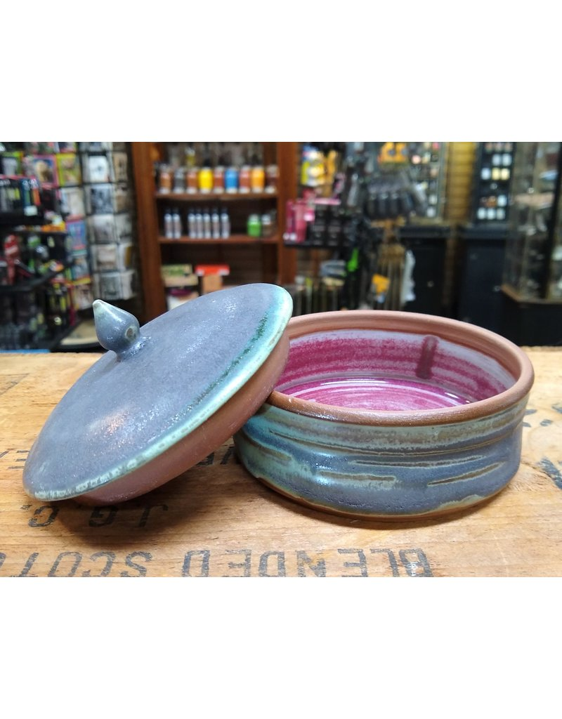 Mudbug Creations Shave Bowl W/ Lid - Gray & Seafoam