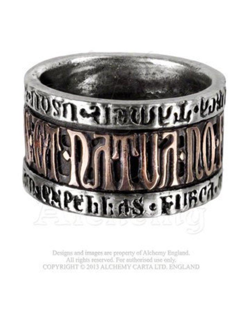 Alchemy of England Deus Et Natura Ring