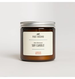 Fox + Hound Odor Eliminator Soy Candle - Amber Woods