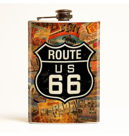 Retro-a-go-go Route 66 Flask - 8 oz