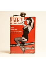 Retro-a-go-go Bettie Page Flirt Flask