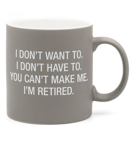 About Face Retired - You Can't Make Me Mug
