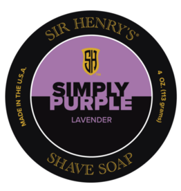 Sir Henry's Sir Henry's Simply Purple Shave Soap - Lavender