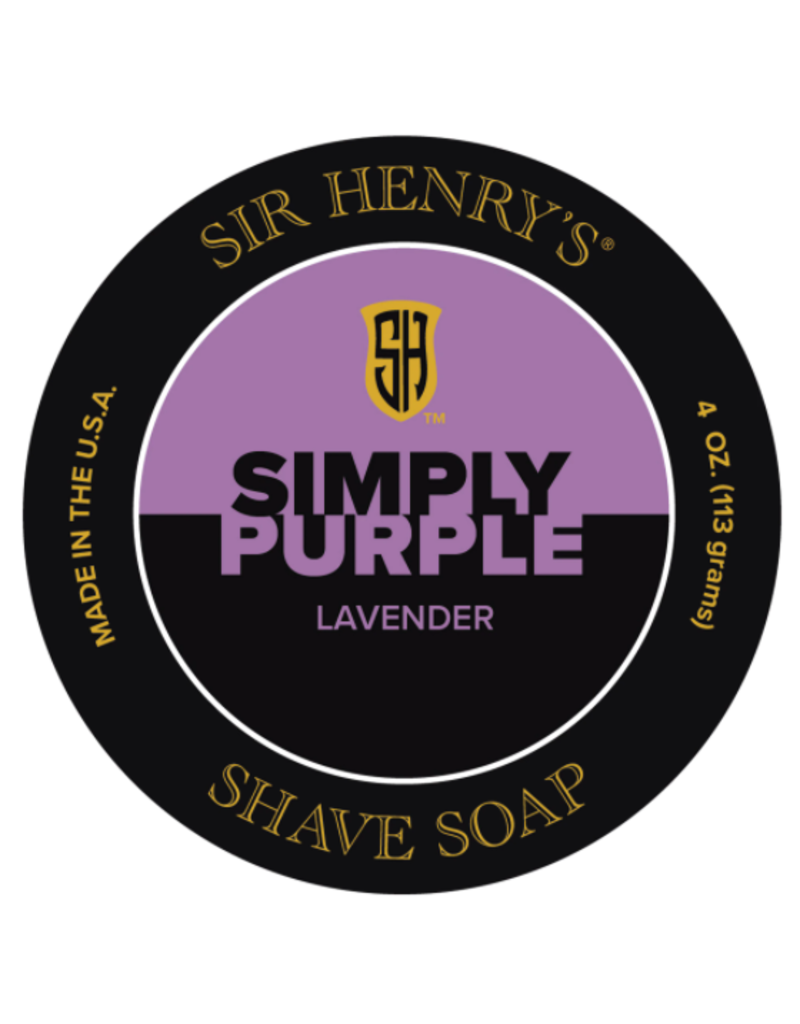 Sir Henry's Sir Henry's Simply Purple Shave Soap