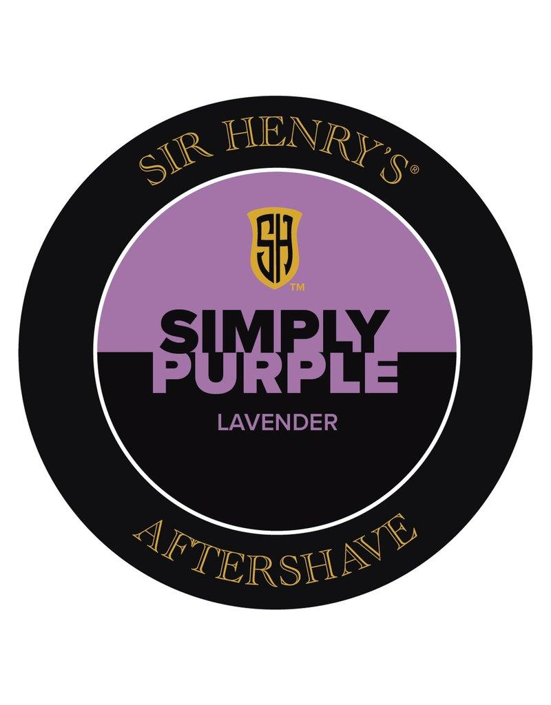 Black Tie Razor Company Sir Henry's Aftershave Splash - Simply Purple
