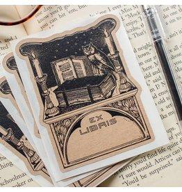 Sunshine & Ravioli Bookplate - Owl With Candles