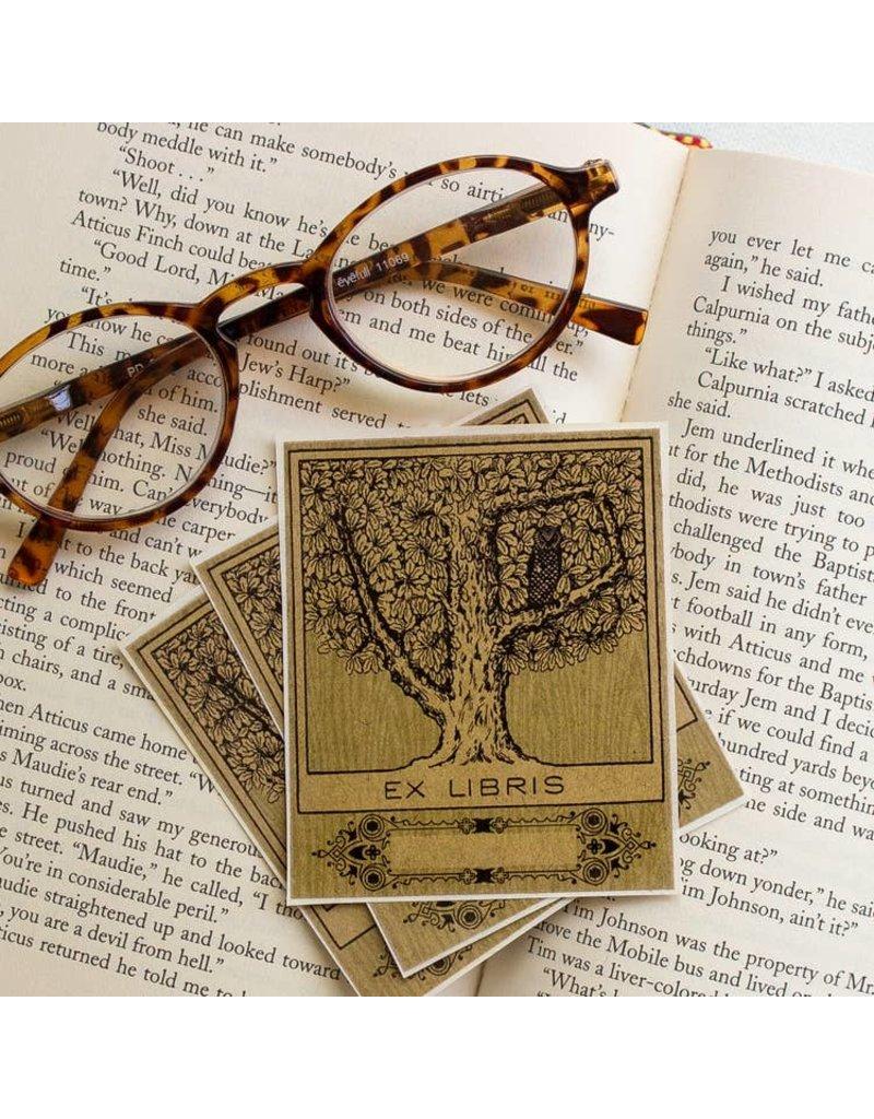 Sunshine & Ravioli Bookplate - Owl in Tree