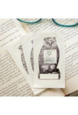 Sunshine & Ravioli Bookplate - Owl w/ Scroll