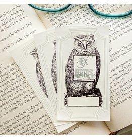 Sunshine & Ravioli Bookplate - Owl With Scroll