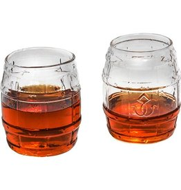 Prestige Decanters Bourbon Barrel Whiskey Glass Set