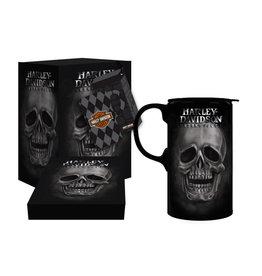 Harley-Davidson Ceramic Tall Boy Skull Travel Mug