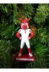 Mascot Statue Ornament - Arkansas Razorbacks