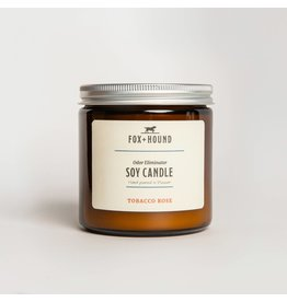 Fox + Hound Odor Eliminator Soy Candle - Tobacco Rose
